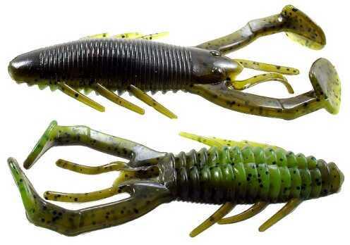 Gene Larew Rattlin Crawler 4 1/4in 6 per bag w/Rattles Gre RC8831-6