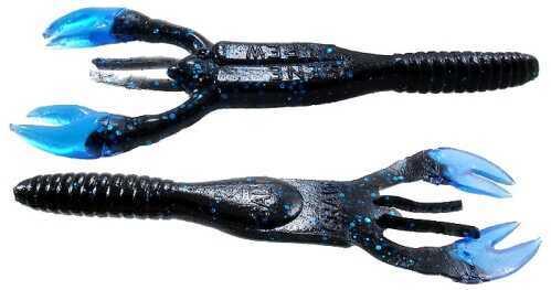 Gene Larew Salt Craw 4in 10 per bag Black Blue/Blue SC0403-10