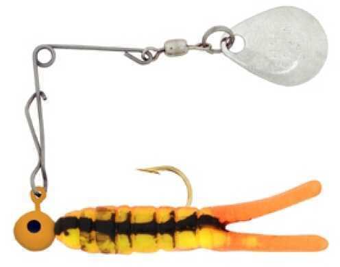 H&H Lure H&H Mini Spin-Nickel 1/64 12/cd Fire Orange Craw CMS-32