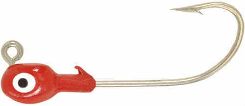 H&H Lure H&H Grub Jig Head 1/2 100/ per bag Red Md#: D12100-01