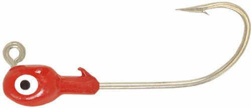 H&H Lure H&H Grub Jig Head 1/4 100/ per bag Red Md#: D14100-01