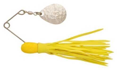 H&H Lure H&H Single Spinner 3/8 6pk Yel-Yellow HHSS-06