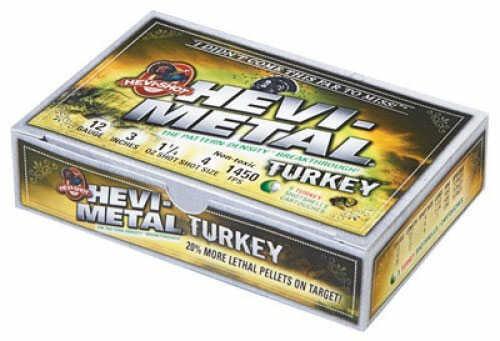 Hevi-Shot Hevi-Metal Turkey Load 12Ga #4,6 3In 5/Box 20Bx/Case Md#: 30045