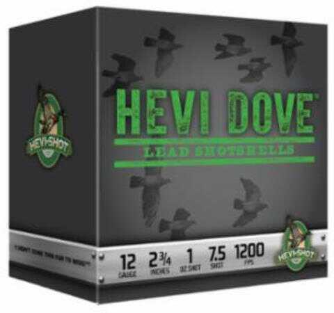 Hevi-Shot Hevi-Dove Loads 12Ga #8 1Oz 2.75In 25/Bx 10/Cs Model: 91208