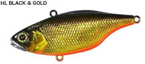Shimano Jackall TN/70 Lipless Crankbait 2 5/8in 5/8oz Hl Black & Gold JTN70-HL per bag
