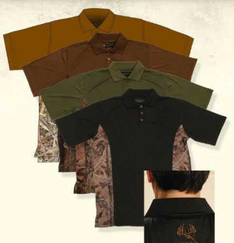 Longleaf Camo Longleaf Drywear Polo Shirt Black / Lbn Md#: 035BLKLBNXXL
