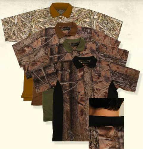 Longleaf Camo Longleaf Drywear Polo Shirt Lbn / Black Md#: 036LBNBLKXL