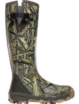 Lacrosse Alpha-Burly Pro Boots Infinity Camo Side Zip 18In Size 07