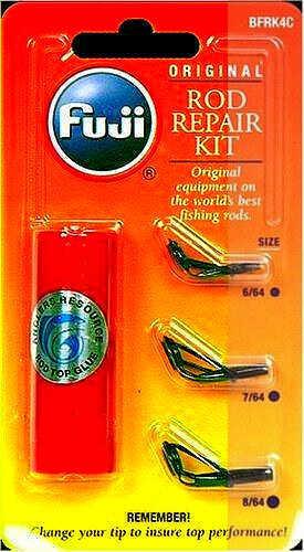 Anglers Resource Angler Resource Fuji Micro Rod Tip Repair Kit 3 Black Micro Tips And Glue Md: BMFRK4C