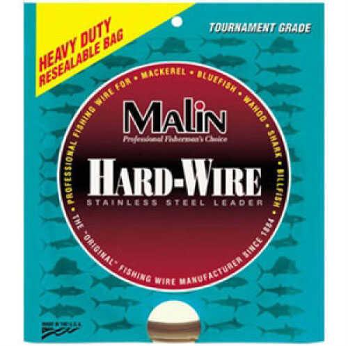 Malin Wire & Cable Malin Single Strand SS Leader Coffee 42ft Coil .035Dia 278lb LC15-42