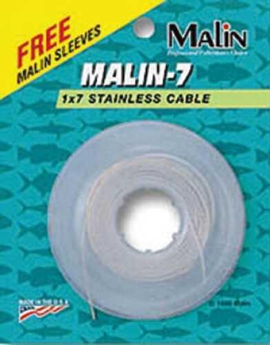 Malin Wire & Cable Malin Seven Strand SS Wire Clr 30ft .022Dia 15lb w/12 Sl NC15-30