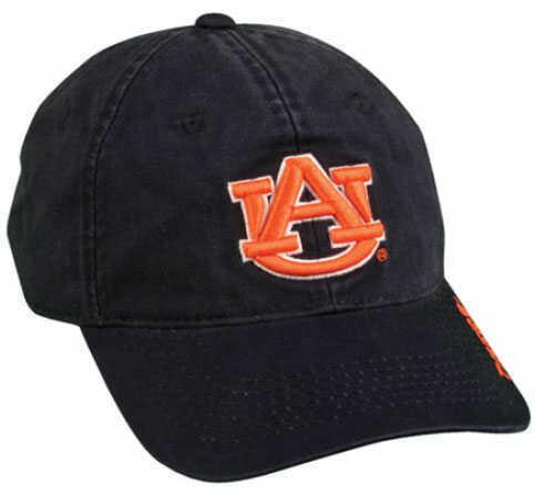 Outdoor Cap College Logo Cap Auburn Solid College Color COL620AUB