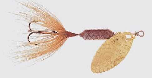 Yakima / Hildebrandt Rooster Tails 1/24 Brown 12/bx 204-BR