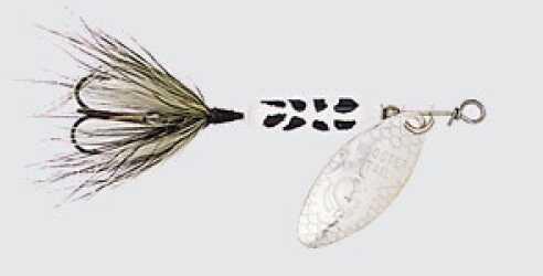 Yakima / Hildebrandt Rooster Tails 1/8 White Coachdog 12/bx 208-WHCD
