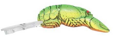 Pradco Lures Rebel Deep Teeny Wee Crawfish 2 3/8in 3/8oz Chartreuse/Green Back D7634