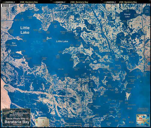 Standard Map Standard Laminated Map Barataria Bay Md#: M008