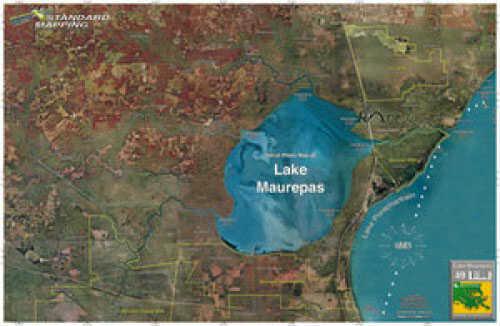 Standard Map Standard Laminated Map Lake Maurepas Md#: M049