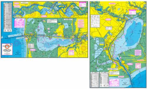 Standard Map Standard Laminated Map Calcasieu Lake M054