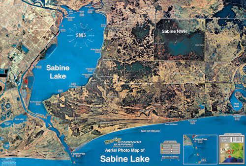 Standard Map Standard Laminated Map Sabine Lake Md#: M057
