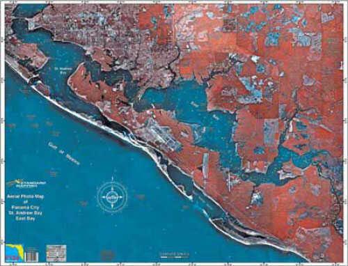 Standard Map Standard Laminated Map Panama City Md#: MF124