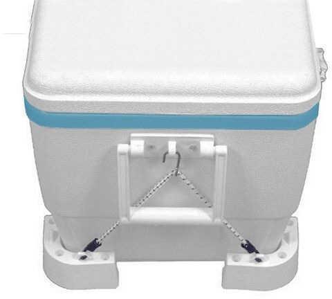 T-H Marine Cooler Mounting Kit 4 Corner Brackets 2 Straps CMK-1-DP