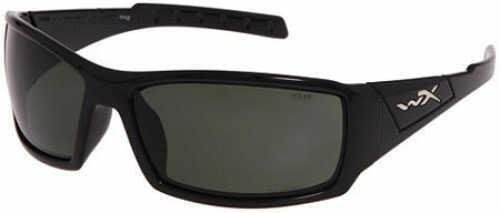 Wiley X Inc. Wiley X Polarized Sunglasses Twisted Smoke Grn/Gloss Black Md#: SSTWI04