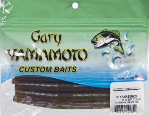 Gary Yamamoto Senko 5in 10/ per bag Light Green Pumpkin/Red Md#: 9-10-357