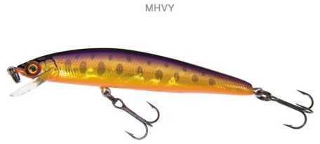 Yo-Zuri America Yozuri Pin's Minnow 1/8oz 2-3/4in Purple Brown Tro F1015 MHVY