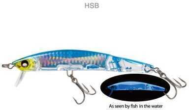 Yo-Zuri America Yozuri Crystal 3D Jointed Minnow 3/4oz 5-1/4in Holo Silver Blue F1051 HSB