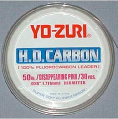 Yo-Zuri America Yozuri HD Fluorocarbon Leader 30yd 15lb Disappearing Pink Fishing Line HD15LBDP
