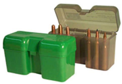 MTM Ammunition Box 22 Round Flip-Top 375 Rem UM 416 Rig Clear Smoke RF22-LM-41