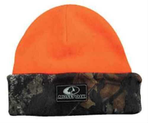 Outdoor Cap Mossy Oak Logo Cap Breakup/Orange Reversible Knit 1-Sz MOFS06KN