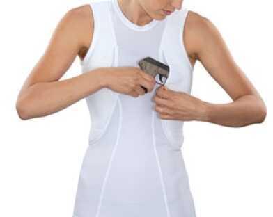 5.11 Inc Tactical Sleeveless Shirt L White Holster Shirt Women's 30012