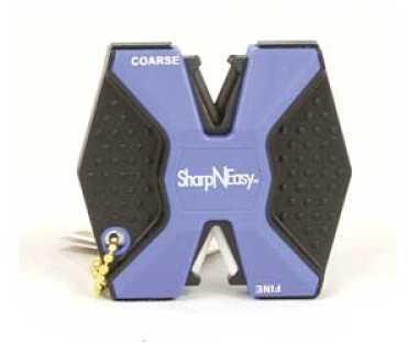 Accusharp SharpNEasy Knife Sharpener Black/Blue Knife Sharpener Rubber/Plastic Canister 334CD