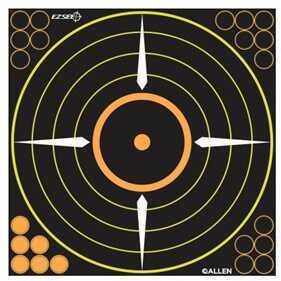 """Allen Cases Allen Ez See Adhesive Bullseye Target, 12""""x12"""", 5 pack 15222"""