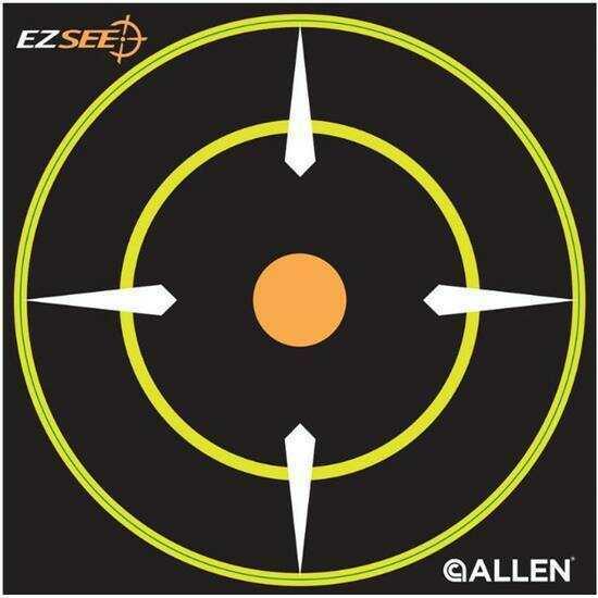 """Allen Cases Allen EZ See Adhesive Bullseye Target, 6""""X6"""", 12 Pack 15226"""
