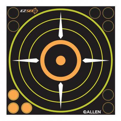 """Allen Cases Allen EZ See Adhesive Bullseye Target, 8.5""""X8.5"""", 6 Pack 15228"""