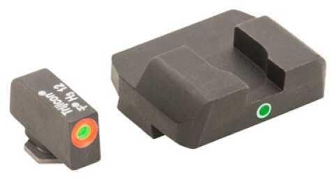 Ameriglo LLC. Pro I-Dot Sight 2 Dot Glk 17,19,22,23,24,26,27,33,34,35,37,38,39 Green/Orange Front/Rear GL-201O