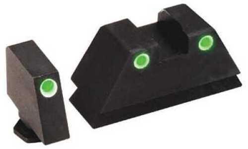 Ameriglo LLC. Tall Suppressor Sight 3 Dot All Glocks Green w/White Outline Tall Suppressor Front/Rear GL-329