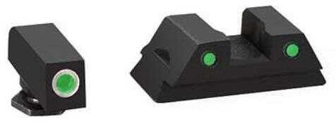 Ameriglo LLC. AmeriGlo Operator Sight Front/Rear Glock 42 Green White Outline Front/Green rear Front/Rear GL-382