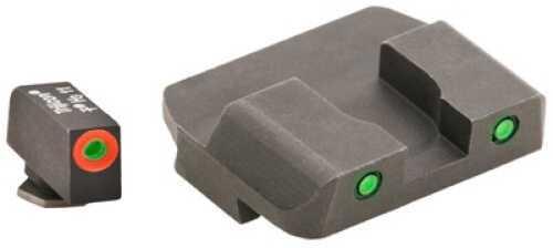 Ameriglo LLC. Spartan Tactical Operator Sight Glk 17,19,22,23,24,26,27,33,34,35,37,38,39 Green/Green ProGlo Front GL-446