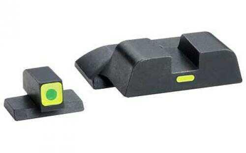 Ameriglo LLC. AmeriGlo CAP - Combative Application Pistol Sight Front/Rear Springfield XD Green Tritium LimeGreenL XD-614