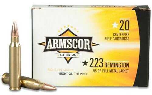 Armscor Precision Inc Armscor Ammunition, 223 Remington, 55 Grain, Pointed Soft Point AC223-2N