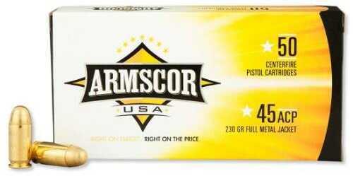 Armscor Precision Inc Armscor Ammunition, 45 ACP, 230 Grain, Jacketed Hollow Point AC45A-10N