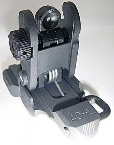 A.R.M.S., Inc. Sight Black ARMS #40 Low Profile with Same Plane Aperture 40L-SP