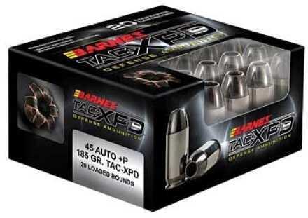 Barnes Pistol Ammunition TAC-XPD 45 Auto+P 185 Grains Tac ...