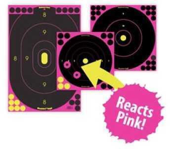 """Birchwood Casey Shoot•N•C Pink 8"""" Bull's-eye Target- 6 Pack 34808"""