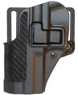 BlackHawk Products Group CQC SERPA Belt Holster Left Hand Black HK P30 Carbon Fiber Belt Loop and Paddle 410017BK-L