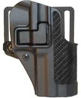 BlackHawk Products Group CQC SERPA Belt Holster Right Hand Black HK P30 Carbon Fiber 410017BK-R