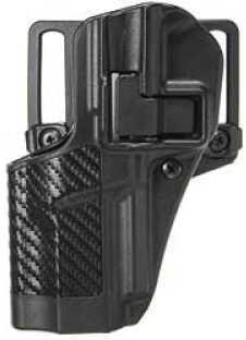 BlackHawk Products Group CQC SERPA Belt Holster Left Hand Black Carbon Fiber FN Fiveseven Carbon Fiber Belt Loop and Paddle 4 410018BK-L